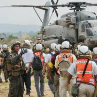 Cobra Gold 2013 holds evacuation drill in Thailand for Japanese