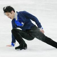 Disappointing result: Daisuke Takahashi, the 2012 world silver medalist, performs during the men's short program at the Four Continents Figure Skating Championships on Friday in Osaka. Takahashi finished fourth in the short program. | KYODO
