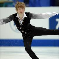 Surprise winner: Canada's Kevin Reynolds performs during the men's free skate at the Four Continents on Saturday. Reynolds amassed 250.55 points to earn the title. | AFP-JIJI