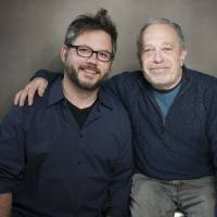 A message for America: 'Inequality for All' director Jacob Kornbluth and author Robert Reich pose at the 2013 Sundance Film Festival on Jan. 21 in Utah. | AP
