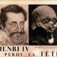A heady mystery: Scientists say they have identified a mummified head (right) as belonging to France's King Henry IV (left), who was assassinated in 1610 and whose head went missing during the French Revolution. But critics contest the claim. | AP
