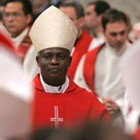 Frontline contender: Ghanaian Cardinal Peter Turkson says the time is right for a pontiff from the developing world. | AP