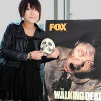A head for the grotesque: Akane Kanbayashi scared off other hopefuls to win a spot as a zombie extra in the TV series 'The Walking Dead.' Satoko Kawasaki