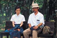 Miyazawa and Tadanobu Asano in 'The Face of Jizo'