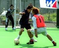 Futsal, or five-a-side soccer, is increasingly popular in Japan, especially since the World Cup finals in summer.