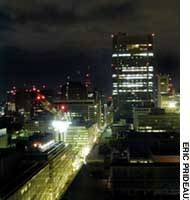 After the millions of workers have headed home, central Tokyo takes on a certain nocturnal calm.