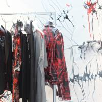 Art meets Fashion: A scarlet-splashed line of jackets and shirts inspired by the paintings of Italian artist Daniele Innamorato. | DANIELLE DEMETRIOU