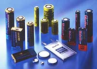Sanyo Electric Co. boasts an array of batteries, including those used for such products as mobile phones and digital cameras.   PHOTO COURTESY OF SANYO ELECTRIC CO.