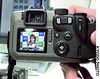 Fuji Photo Film Co. unveils a digital camera prototype that can access wireless local area networks.