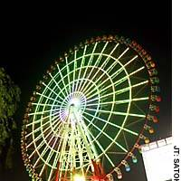 This Ferris wheel in Tokyo's Odaiba district operates until 2 a.m. from March to September.