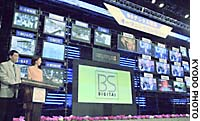 A ceremony to launch broadcast-satellite digital television programs was held in December 2000 at NHK in Tokyo's Shibuya Ward.