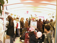 Shoppers cram a Sanrio character products store in Hamburg, Germany, on its opening day in October.   PHOTO COURTESY OF SANRIO CO.