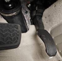 Recalled: The gas and brake pedals of a recalled Camry are shown at the Magnussen's Toyota dealership in Palo Alto, Calif., on Monday. | AP PHOTO