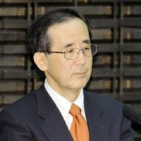 Upbeat: Bank of Japan Gov. Masaaki Shirakawa attends the central bank's regional manager meeting Thursday in Tokyo. | KYODO PHOTO