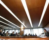 Deflation fighter: Bank of Japan Gov. Masaaki Shirakawa faces the media at BOJ headquarters in Tokyo May 21. The central bank is reportedly considering a new program to combat deflation. | BLOOMBERG PHOTO