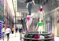 More in store: This artist's image shows the Uniqlo flagship store to open Oct. 1 in Osaka's Shinsaibashi district. | KYODO PHOTO