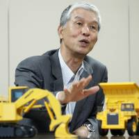 I can dig it: Kunio Noji, president and chief executive officer of Komatsu Ltd., is interviewed in Tokyo on Thursday.   BLOOMBERG PHOTO