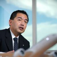 Wheels up: Japan Airlines President Masaru Onishi is interviewed in Tokyo on Friday. | BLOOMBERG PHOTO