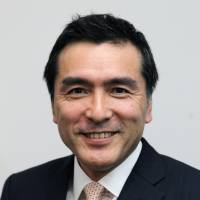 Positive outlook: Seiichi Chiba, chief financial officer of Aeon Co., is  interviewed at the company's headquarters in the city of Chiba on Monday. | BLOOMBERG