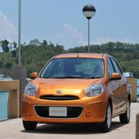 Made by Japan: A Nissan Motor Co. March compact manufactured in Thailand appears in an undated handout  photograph provided to the media in July 2010.   BLOOMBERG