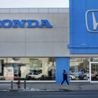 Windfall: Honda and other carmakers are looking forward to eventually selling new cars to all of the people whose vehicles were damaged by Superstorm Sandy.   BLOOMBERG