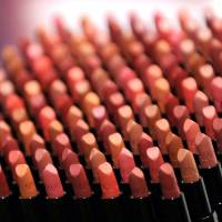 No more animal tests: Shiseido Co. show off its Maquillage True Rouge glossy lipstick in January 2012. The company said Friday it will abolish animal testing for its products developed from April. | AFP-JIJI