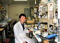 Taiichi Katayama, in his laboratory at Osaka University, discusses the recent breakthrough his research team made in determining the cause of Alzheimer's disease.