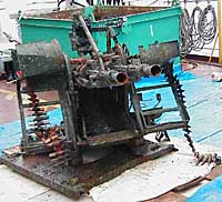 A 14.5mm heavy machinegun with a firing range of 2 km is shown in this photo taken aboard a vessel confirmed Friday as a North Korean spy ship. PHOTO COURTESY OF THE JAPAN COAST GUARD