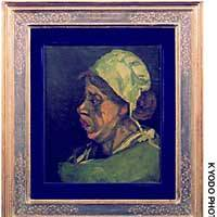 This is oil painting  of a peasant woman has been identified as an early work by Dutch master Vincent van Gogh.