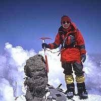 Junko Tabei poses atop the 5,633-meter Mount Elbrus in 1989 in the then Soviet republic of Georgia after clearing her fifth of the world's ``Seven Summits.'' | PHOTO COURTESY OF JUNKO TABEI