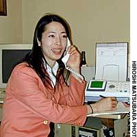 Assembly hopeful Aya Kamikawa works to combat discrimination against transsexuals at her campaign headquarters in Setagaya Ward, Tokyo.