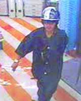 A CONVENIENCE STORE security camera caught this image of a man who reportedly stabbed five people at random in Tokyo's Shibuya district. (Kyodo Photo)