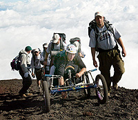 Keegan Reilly and members of his Strong Arm Expeditions team reach the summit of Mount Fuji after a four-day climb. | PHOTO COURTESY OF KEEGAN REILLY