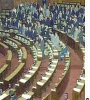 Ruling coalition lawmakers in the Upper House pass the contentious pension reform bills Saturday morning amid a boycott by two opposition parties.