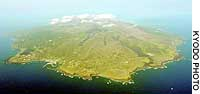 Volcanic Miyake Island has been off-limits to islanders since September 2000.