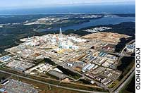 An undated photo shows the nuclear fuel reprocessing plant in the village of Rokkasho, Aomori Prefecture.