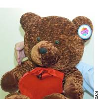 This teddy bear is of the same type distributed by Universal Studios Japan since last year that was recently found to have had a needle in it.