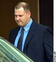 Independent U.S. military counsel Capt. James Culp leaves Charles Jenkins' Tokyo hospital.