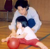 A video still released Friday by the Imperial Household Agency shows Princess Aiko attending a rhythmic gymnastics lesson with her mother, Crown Princess Masako, at the Togu Palace in Tokyo in August.
