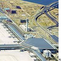 The Chubu Centrair International Airport's passenger terminal building off Tokoname, Aichi Prefecture, will open in February.