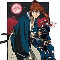 Kenshin, the main character in the Japanese animation film 'Samurai X,' is shown in this illustration.