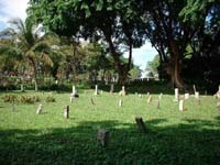 Former 'Karayuki-san,' or Japanese prostitutes, are buried under a number of small tombstones at Japanese Cemetery Park in Singapore.