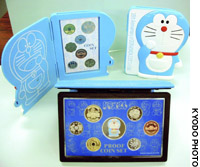 The Japan Mint plans to issue special coins to commemorate the 35th anniversary of cartoon character Doraemon, shown in this file photo.