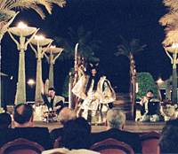 The noh troupe Sense performs in Oman last February.   PHOTO COURTESY OF THE JAPAN FOUNDATION/KYODO