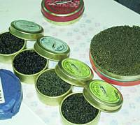 Expensive caviar imported from Iran appears in this file photo.