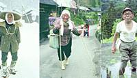 Life in the now-ghost village of Tokuyama, Gifu Prefecture, is captured for posterity by photographer Tazuko Masuyama in 1981. Masuyama speaks at her home in city of Gifu in 1992. | TAZUKO MASUYAMA/KYODO PHOTOS