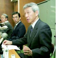Hidetsugu Asanoi, head of Imizu City Hospital, speaks March 28 about the deaths of six patients.