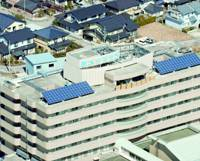 Imizu City Hospital, the focus of a euthanasia investigation, is seen from the air in Toyama Prefecture.