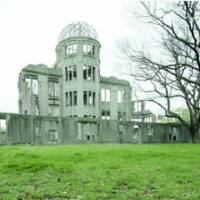 The atomic bomb dome in Hiroshima, seen Thursday, may be standing on lead-contaminated soil.