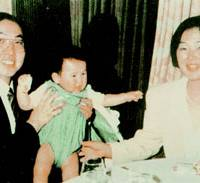 Lawyer Tsutsumi Sakamoto, his 1-year-old son Tatsuhiko and his wife Satoko, who were killed by members of the cult in 1989.